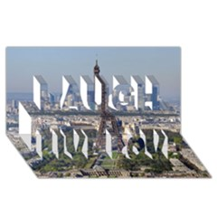 Eiffel Tower 2 Laugh Live Love 3d Greeting Card (8x4)  by trendistuff