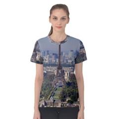 Eiffel Tower 2 Women s Cotton Tee by trendistuff