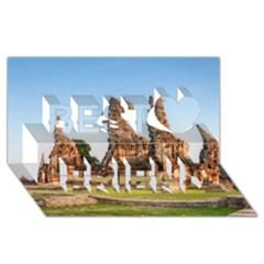 Chaiwatthanaram Best Friends 3d Greeting Card (8x4)  by trendistuff