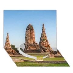 Chaiwatthanaram Circle Bottom 3d Greeting Card (7x5)  by trendistuff