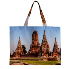 Chaiwatthanaram Zipper Tiny Tote Bags by trendistuff