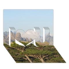 Socotra, Yemen I Love You 3d Greeting Card (7x5)  by trendistuff
