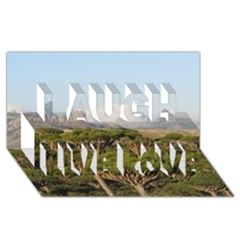 Socotra, Yemen Laugh Live Love 3d Greeting Card (8x4)  by trendistuff