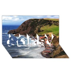 Scotland Crovie Sorry 3d Greeting Card (8x4)