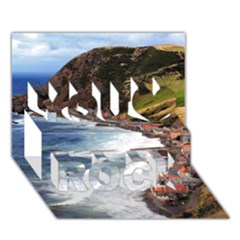 Scotland Crovie You Rock 3d Greeting Card (7x5)  by trendistuff