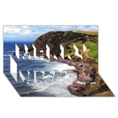 Scotland Crovie Merry Xmas 3d Greeting Card (8x4)  by trendistuff