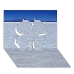 Salt Flats Clover 3d Greeting Card (7x5)