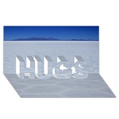 Salt Flats Hugs 3d Greeting Card (8x4)