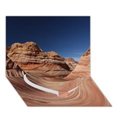 Petrified Sand Dunes Heart Bottom 3d Greeting Card (7x5)  by trendistuff