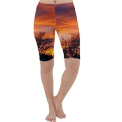 ORANGE SUNSET Cropped Leggings by trendistuff