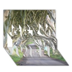 Dark Hedges, Ireland Get Well 3d Greeting Card (7x5)  by trendistuff