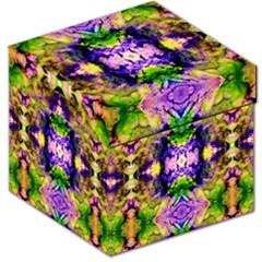 Green,purple Yellow ,goa Pattern Storage Stool 12   by Costasonlineshop