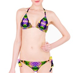Green,purple Yellow ,goa Pattern Bikini Set by Costasonlineshop