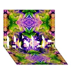 Green,purple Yellow ,goa Pattern Hope 3d Greeting Card (7x5)  by Costasonlineshop