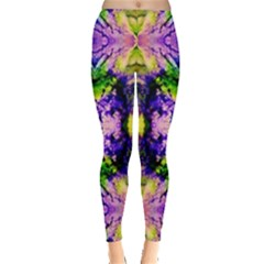 Green,purple Yellow ,goa Pattern Women s Leggings by Costasonlineshop
