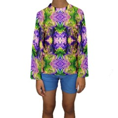 Green,purple Yellow ,goa Pattern Kid s Long Sleeve Swimwear by Costasonlineshop