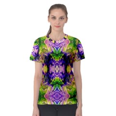 Green,purple Yellow ,goa Pattern Women s Sport Mesh Tees
