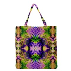 Green,purple Yellow ,goa Pattern Grocery Tote Bags
