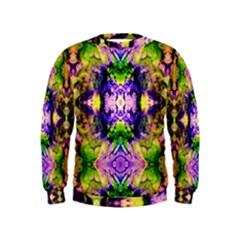 Green,purple Yellow ,goa Pattern Boys  Sweatshirts