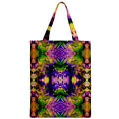 Green,purple Yellow ,goa Pattern Zipper Classic Tote Bags by Costasonlineshop