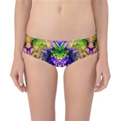 Green,purple Yellow ,goa Pattern Classic Bikini Bottoms by Costasonlineshop