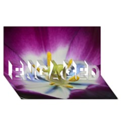 Purple Beauty Engaged 3d Greeting Card (8x4)  by timelessartoncanvas