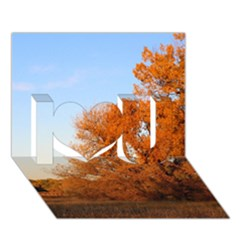 Beautiful Autumn Day I Love You 3d Greeting Card (7x5)  by trendistuff