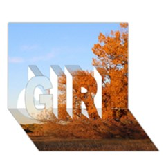 Beautiful Autumn Day Girl 3d Greeting Card (7x5)  by trendistuff