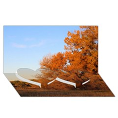 Beautiful Autumn Day Twin Heart Bottom 3d Greeting Card (8x4)