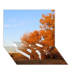 Beautiful Autumn Day Love Bottom 3d Greeting Card (7x5)  by trendistuff
