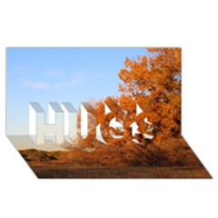 Beautiful Autumn Day Hugs 3d Greeting Card (8x4)