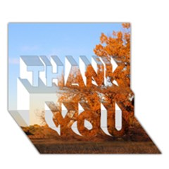 Beautiful Autumn Day Thank You 3d Greeting Card (7x5)  by trendistuff