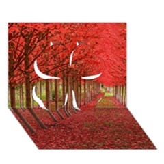 Avenue Of Trees Clover 3d Greeting Card (7x5)  by trendistuff