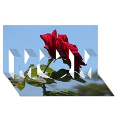 Red Rose 2 Mom 3d Greeting Card (8x4)  by trendistuff