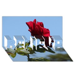 Red Rose 2 Believe 3d Greeting Card (8x4)  by trendistuff