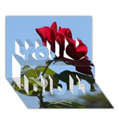 Red Rose 2 You Did It 3d Greeting Card (7x5) by trendistuff