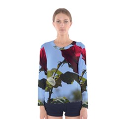 Red Rose 2 Women s Long Sleeve T Shirts by trendistuff