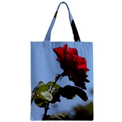 Red Rose 2 Zipper Classic Tote Bags