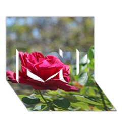 Red Rose 1 I Love You 3d Greeting Card (7x5)  by trendistuff