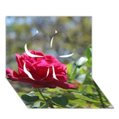 Red Rose 1 Clover 3d Greeting Card (7x5)  by trendistuff