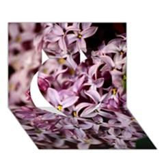 Purple Lilacs Heart 3d Greeting Card (7x5)  by trendistuff