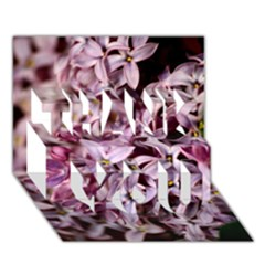 Purple Lilacs Thank You 3d Greeting Card (7x5)  by trendistuff