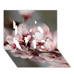 Plum Blossoms Love 3d Greeting Card (7x5)  by trendistuff