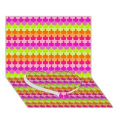 Scallop Pattern Repeat In 'la' Bright Colors Heart Bottom 3D Greeting Card (7x5)  by PaperandFrill