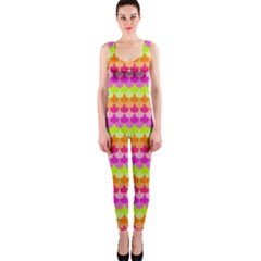Scallop Pattern Repeat In 'la' Bright Colors OnePiece Catsuits by PaperandFrill
