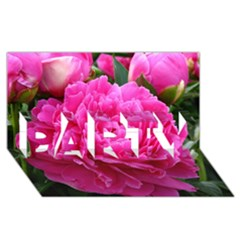 Paeonia Eleanor Party 3d Greeting Card (8x4)  by trendistuff