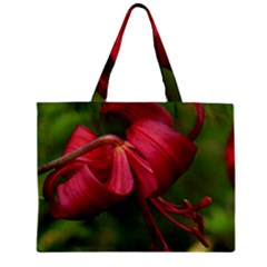 Lilium Red Velvet Tiny Tote Bags by trendistuff