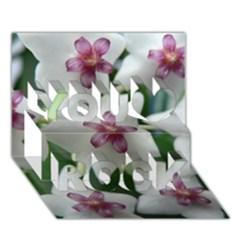 Hoyabella You Rock 3d Greeting Card (7x5)  by trendistuff