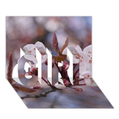 Cherry Blossoms Girl 3d Greeting Card (7x5)  by trendistuff