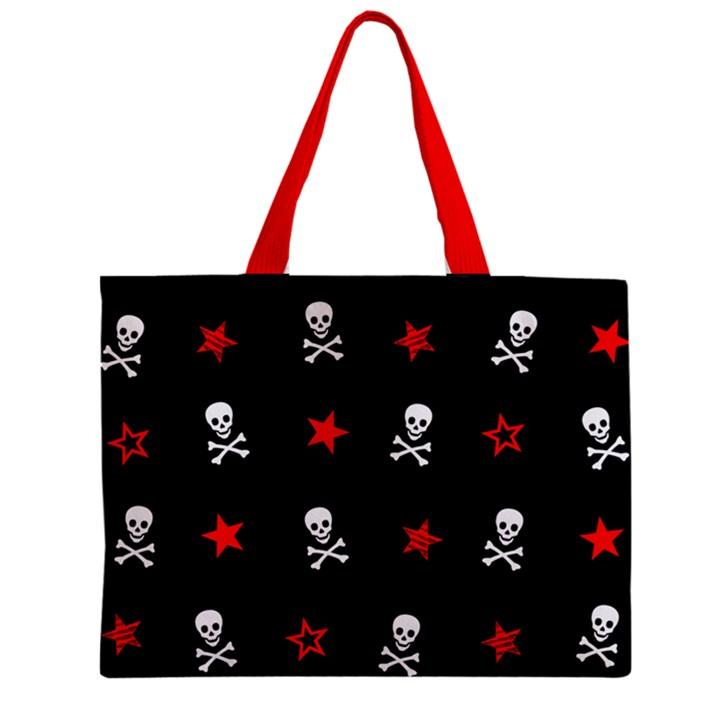 Stars, Skulls & Crossbones Zipper Tiny Tote Bags